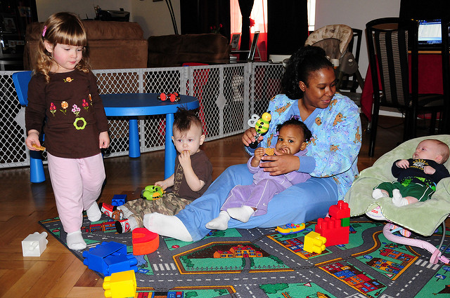 Babies and toddlers at a day care