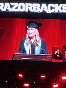 Speaker at a graduation
