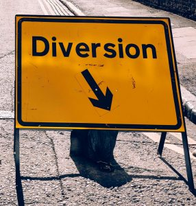 """Sign that says """"Diversion"""""""