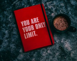 """Picture of a book that says, """"You are your only limit."""""""