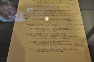 Picture of Winston Churchill's manuscript