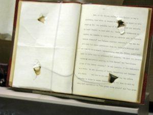 Teddy Roosevelts Speech with Bullet Holes in it