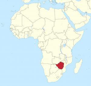 Zimbabwe Shown in Africa